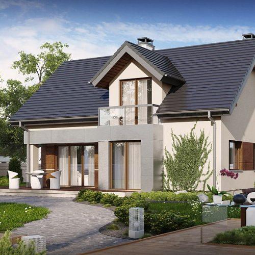 Фото проекта дома Z89 вид с улицы