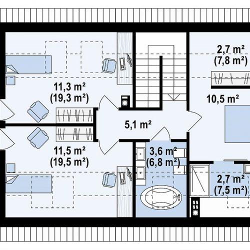 План второго этажа проекта Z95 A