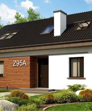Фото проекта дома Z95 A вид с улицы