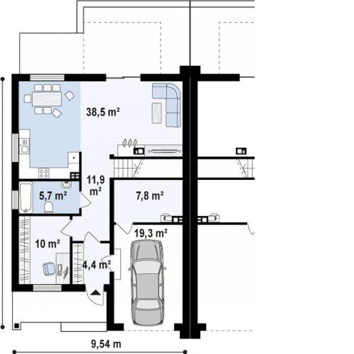 План первого этажа проекта Zb13