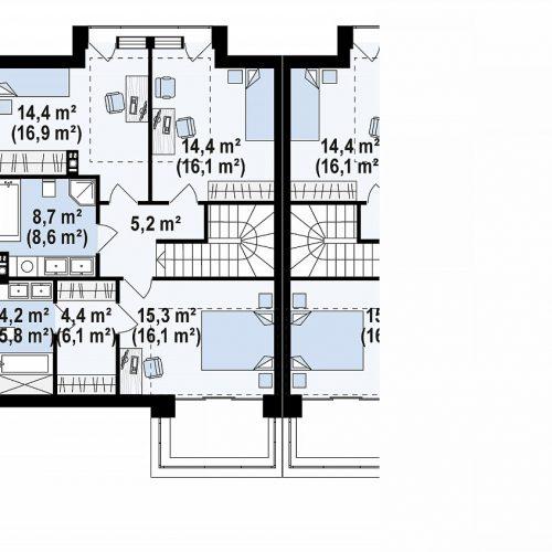 План второго этажа проекта Zb14