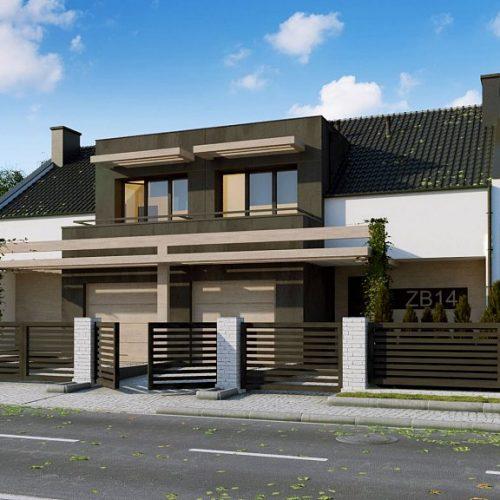 Фото проекта дома Zb14 вид с улицы
