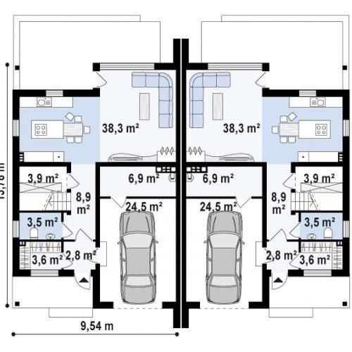 План первого этажа проекта Zb15