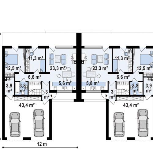 План первого этажа проекта Zb17