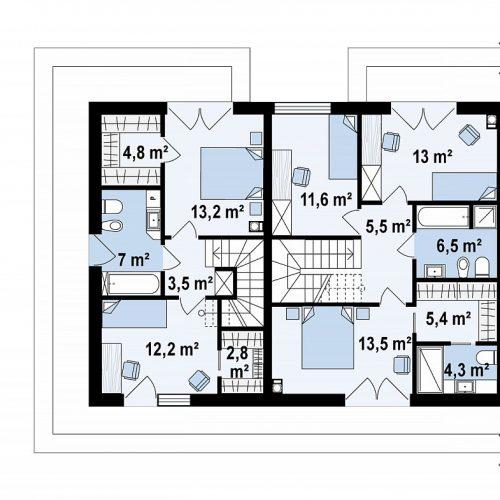 План второго этажа проекта Zb23