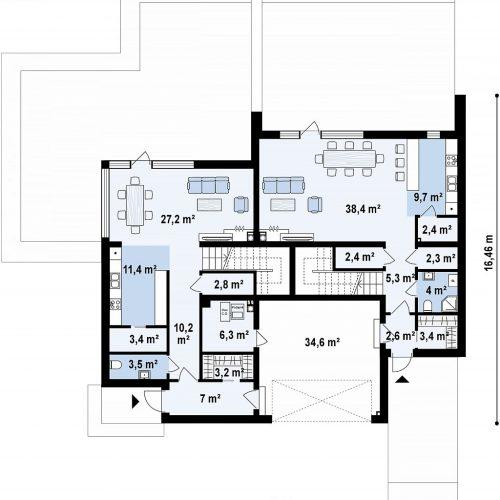 План первого этажа проекта Zb27