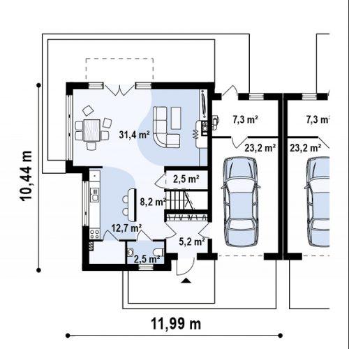 План первого этажа проекта Zb3