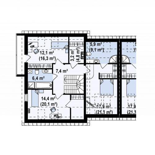 План второго этажа проекта Zb3