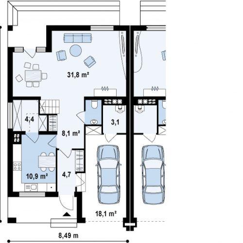 План первого этажа проекта Zb4