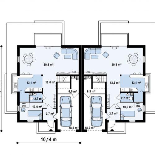План первого этажа проекта Zb6