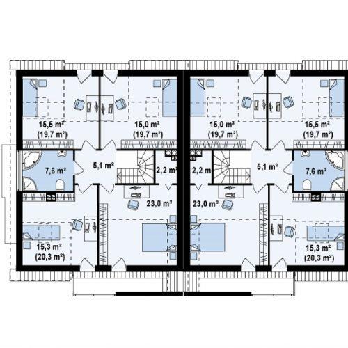 План второго этажа проекта Zb6