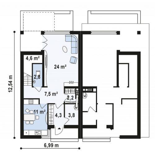 План первого этажа проекта Zb7