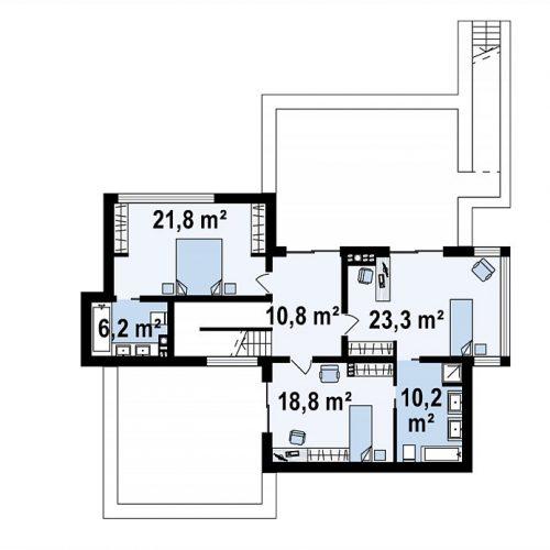 План второго этажа проекта Zr17
