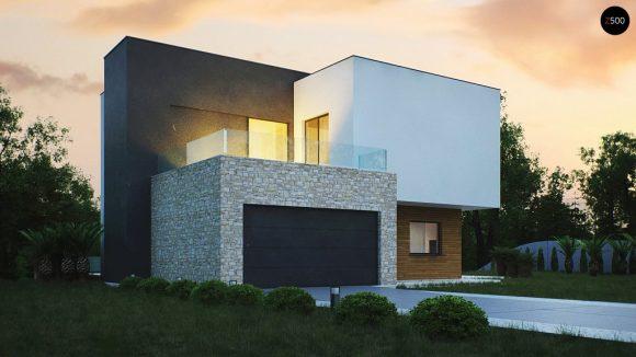 Фото проекта дома Zr17 вид с улицы