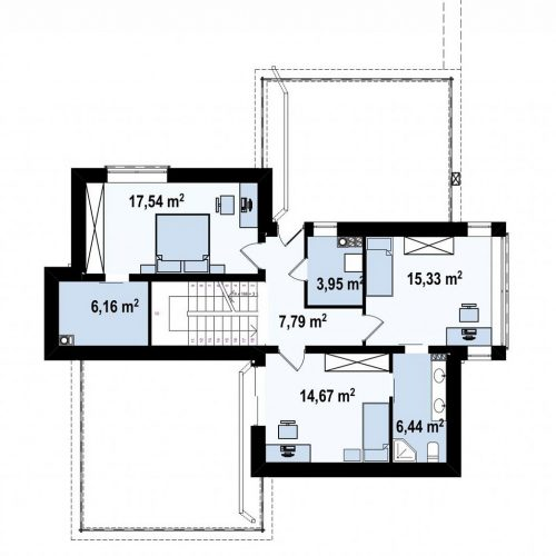План второго этажа проекта Zr17 A