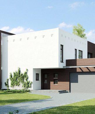 Фото проекта дома Zx1 вид с улицы