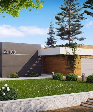 Фото проекта дома Zx100 вид с улицы