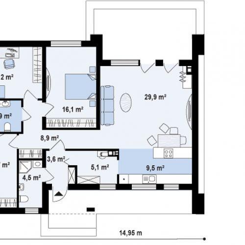 План первого этажа проекта Zx102 bG