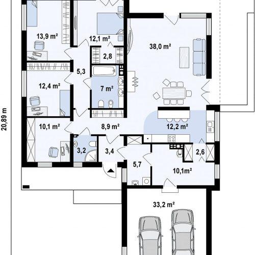 План первого этажа проекта Zx103