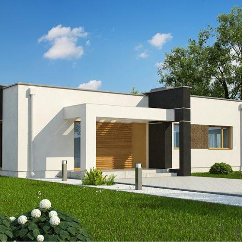 Фото проекта дома Zx105 B вид с улицы