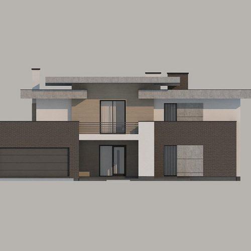 Фасад дома Zx107 1