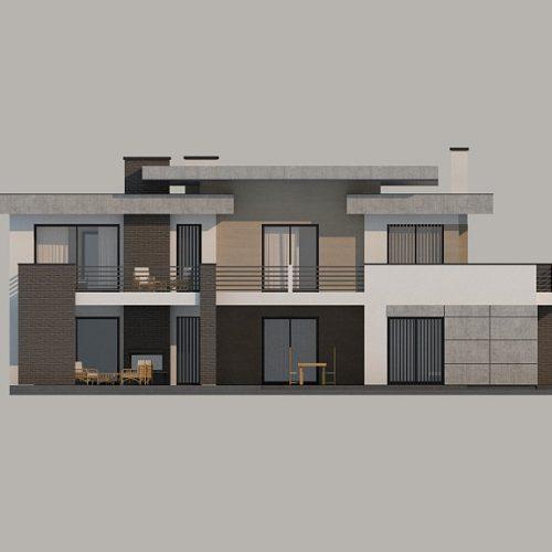 Фасад дома Zx107 3