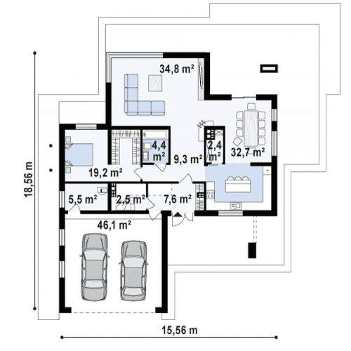 План первого этажа проекта Zx108 2M