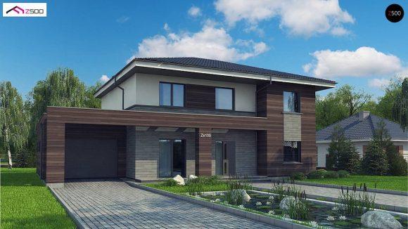 Фото проекта дома Zx109 v1 вид с улицы