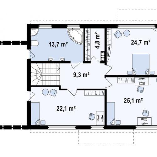 План второго этажа проекта Zx11 GL