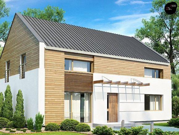Фото проекта дома Zx11 v3 вид с улицы