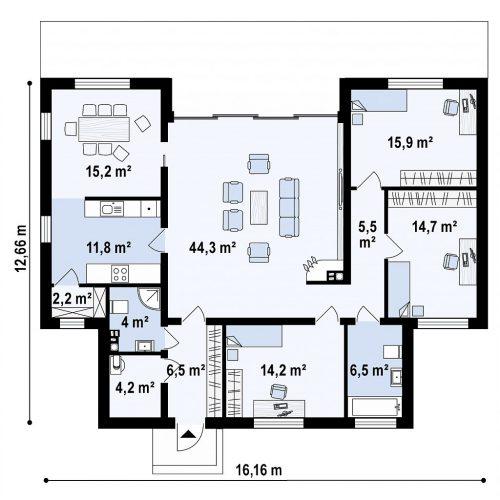 План первого этажа проекта Zx111