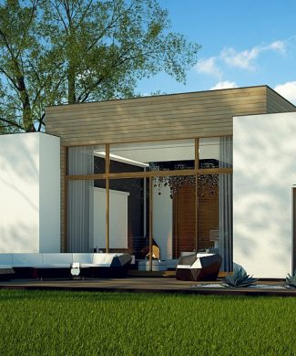 Фото проекта дома Zx111 вид с улицы