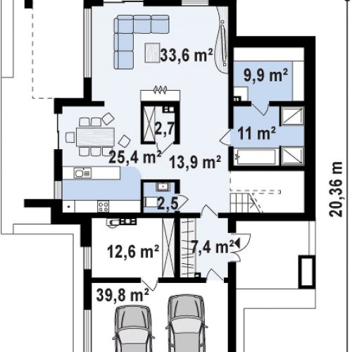 План первого этажа проекта Zx112