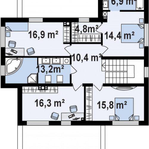План второго этажа проекта Zx112