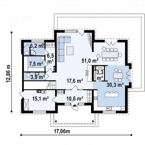 План первого этажа проекта Zx113 bg