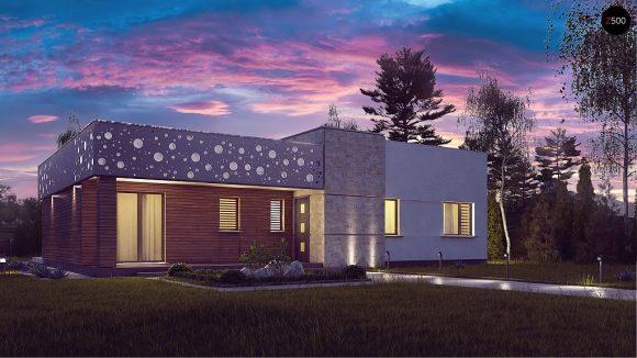 Фото проекта дома Zx115 вид с улицы