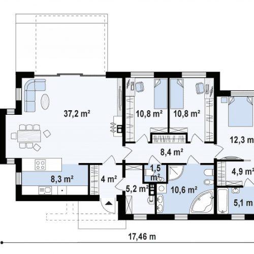 План первого этажа проекта Zx116