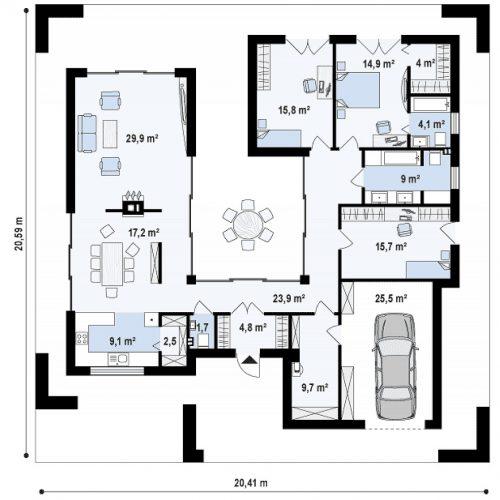 План первого этажа проекта Zx118