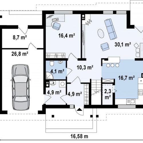 План первого этажа проекта Zx12 k