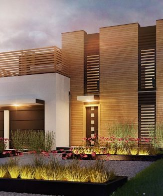 Фото проекта дома Zx120 вид с улицы