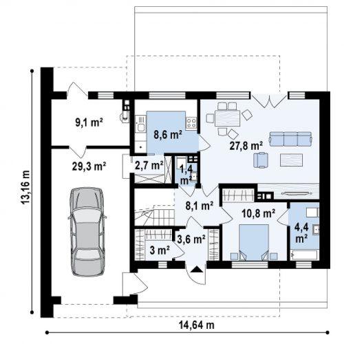 План первого этажа проекта Zx121