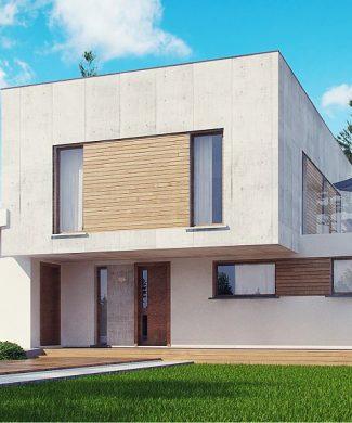 Фото проекта дома Zx121 вид с улицы