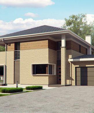 Фото проекта дома Zx122 вид с улицы
