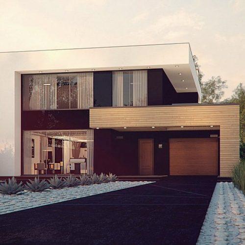 Фото проекта дома Zx123 P вид с улицы