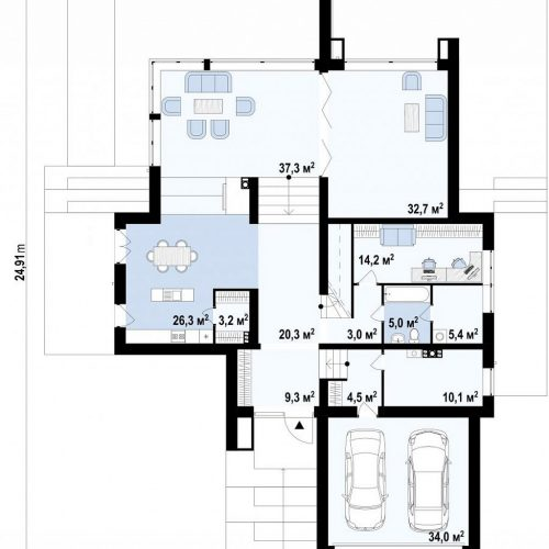 План первого этажа проекта Zx125