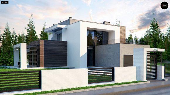 Фото проекта дома Zx125 вид с улицы