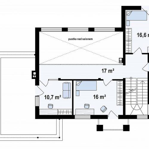 План второго этажа проекта Zx126