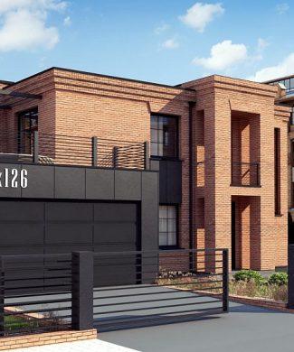 Фото проекта дома Zx126 вид с улицы