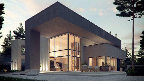 Фото проекта дома Zx127 вид с улицы