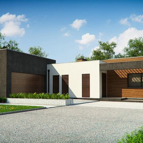 Фото проекта дома Zx128 вид с улицы